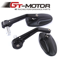 "GT Motor - Universal  7/8"" Handlebar Side end Mirrors Rearview Mirrors Choppers Motorcycle accessories Street Bikes Aluminum"