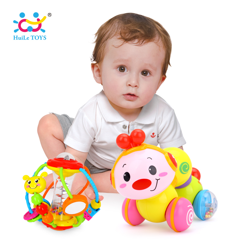 Lovely Musical Brinquedos Bebe Worm Press Function Learning Toys & Grasping Ball Puzzle Multifunction Bell Ball 0-18 Months