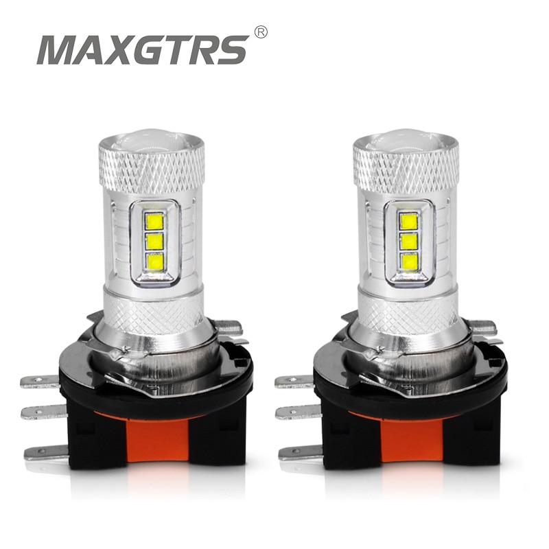 2X H15 CREE Chip LED 80 watt Auto Auto DRL Tagfahrlicht Nebel Lampe Ersatz Birne 6000-6500 karat Reinem Weiß/Rot/Gelb DC12-24V