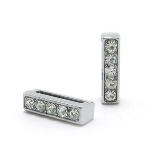 A-Z, 8 мм, стразы, кулон, буквы, подходят для DIY, подарок, шарм, кожаный браслет, браслет, пояс, ожерелье, ювелирные аксессуары - Окраска металла: I
