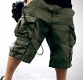 Free Belt Top Selling High Quality  Mens Cargo Shorts Multi-pocket Solid Men Short Pants