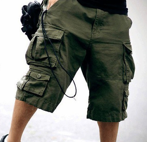 reasonably priced purchase cheap limited sale Free Belt Top Selling High Quality Mens Cargo Shorts Multi pocket Solid Men  Short Pants-in Shorts from Men's Clothing & Accessories