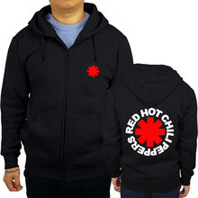ab5eb06d6 Red Hot Chili Peppers Distressed Logo shubuzhi men zipper sweatshirt autumn  luxury brand fashion rock hoodies