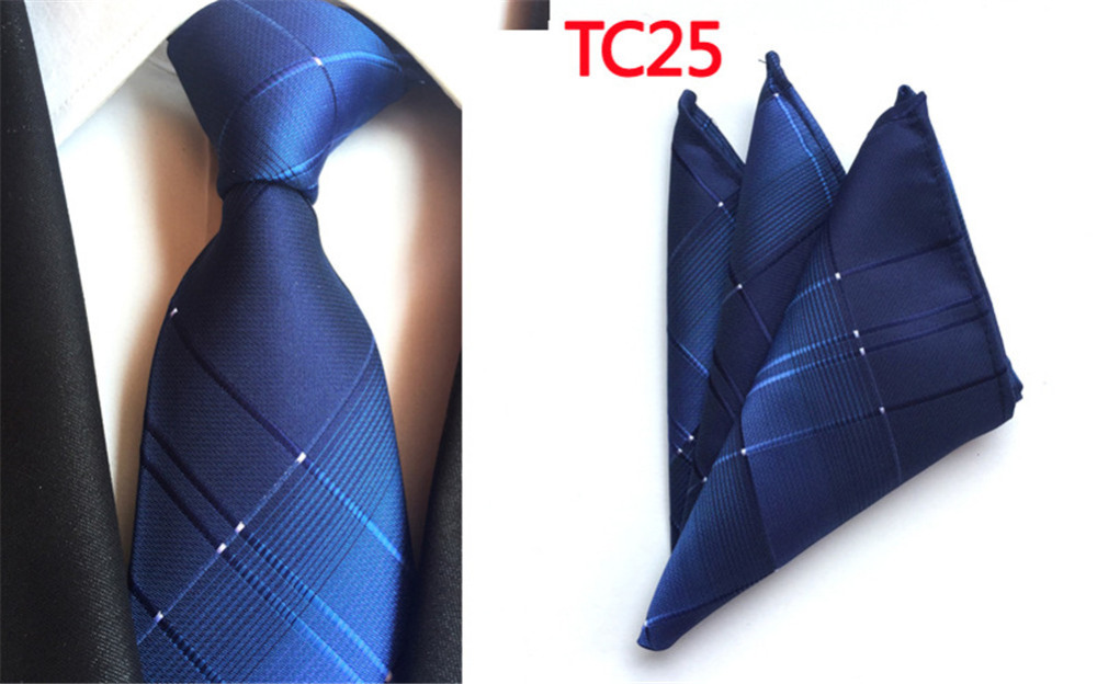 Dutiful Cityraider New Solid Blue Colors Silk Boy Necktie Ties For Men Gifts Neckties Slim Handkerchief With Match Tie 2pcs Set Cr014 Firm In Structure Apparel Accessories