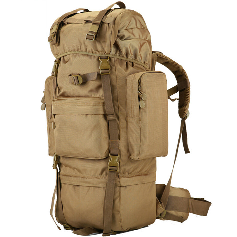 70 L Metal Bracket Backpack Outdoor Sports Bag Military Tactical Bags Hiking Camping Waterproof Wear resisting
