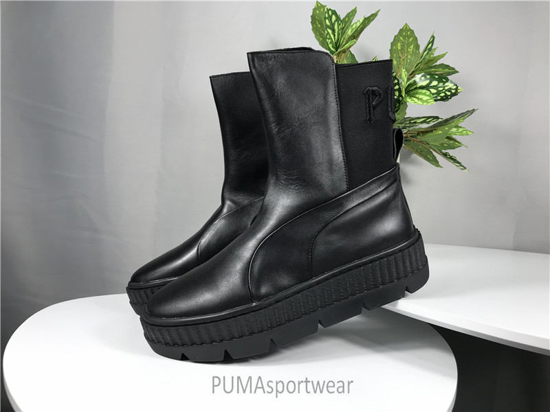 size 40 ee358 f508f US $76.36 6% OFF|Original PUMA Rihanna x Puma Fenty Chelsea Sneaker Boot  Women's Sneakers Bow Badminton Shoes Size35 39-in Badminton Shoes from  Sports ...