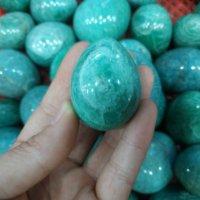 100g natürliche amazonit stein ei sehr schöne farbe