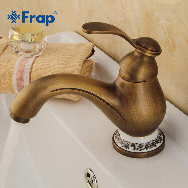 Robinet de salle de bains en laiton FRAP robinet de lavabo robinet mitigeur lavabo lavabo robinet de sculpture Torneira Do Banheiro Y10071