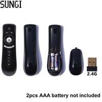 2.4G Draadloze Afstandsbediening Gyroscoop mini air fly muis Met USB ontvanger Voor Android TV Box/Smart TV/PC/Projector