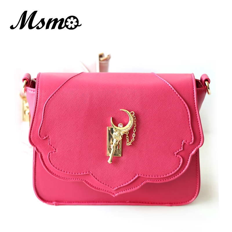 MSMO Japan's new Samantha Vega Sailor Moon Luxury Women Handbag Shoulder Bag PU Leather Messenger Crossbody Bag LUNA Bag 2017 new summer limited sailor moon chain shoulder bag ladies lock pu leather handbag women messenger crossbody small bag