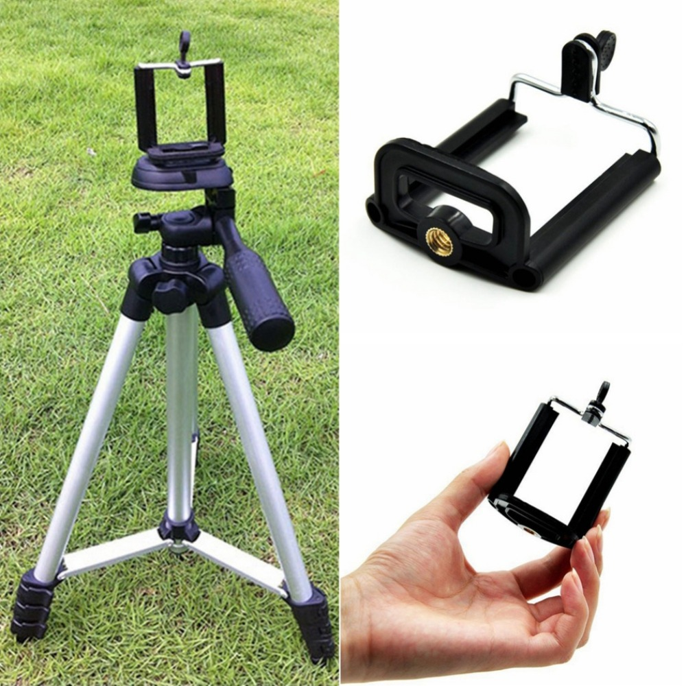 Universal Portable Cell Phone Tripod Clip Holder Mount Bracket Adapter Tripod Mount For Mobile Phones