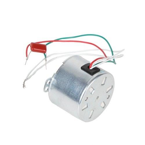 Silver AC220V Low Power Consumption Gear Synchronous Electric Motor 1.5RPM conspicuous consumption