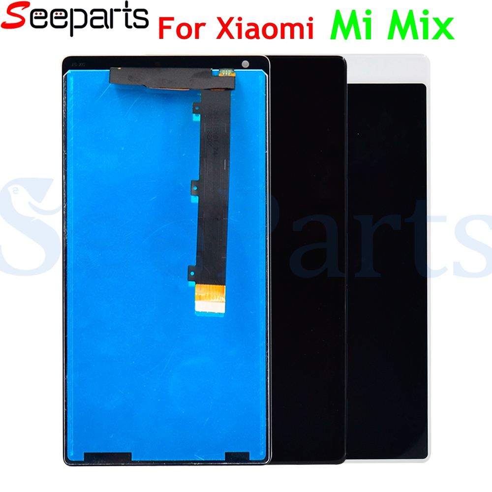 Xiaomi Mi Mix LCD Display Touch Screen Digitizer Assembly With Frame For 6.4 Xiaomi Mi MIX LCD Black/White Replacement Parts   Xiaomi Mi Mix LCD Display Touch Screen Digitizer Assembly With Frame For 6.4 Xiaomi Mi MIX LCD Black/White Replacement Parts