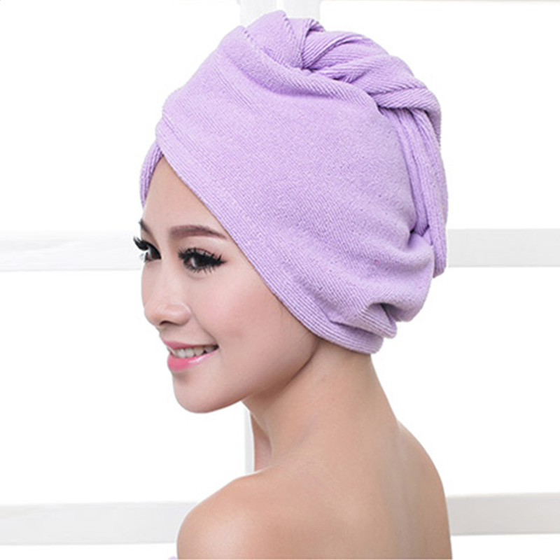 1pcs Microfibre After Shower Hair Drying Wrap Womens Girls Lady's Towel Quick Dry Hair Hat Cap Turban Head Wrap Bathing Tools 3