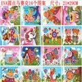 10 unids/lote Niños pegatina EVA mosaico hecho a mano pasta de pintura esponja de la primera infancia juguetes educativos al por mayor 2016 de la venta caliente