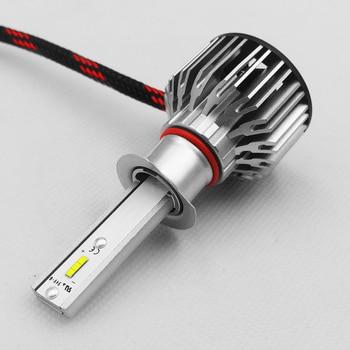 2 X H1 Car Headlight Bulb S6 LED 30W 3800LM 9V-36V IP68 Waterproof 6000K Cold White 200M Light Range 360 Degree Beam for Car SUV