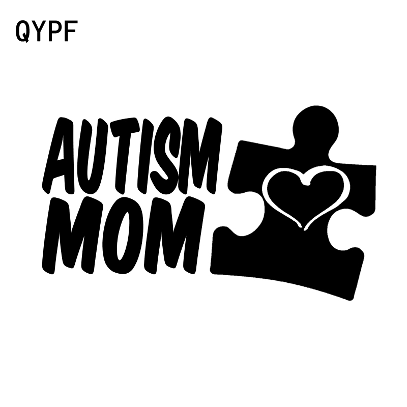 f8985afb832 QYPF 14CM*8CM Personality Vinyl Accessories Autism Mom Car Window Sticker  Decal Black Silver C15