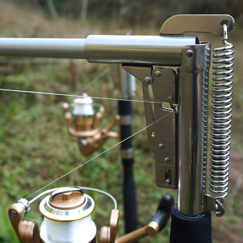 Automatico Canna Da Pesca di Alta Qualità Pole Pesce 1.8 M 2.1 m 2.4 m 2.7 m Mare Lago In Acciaio Inox incassare Canna Senza Mulinello