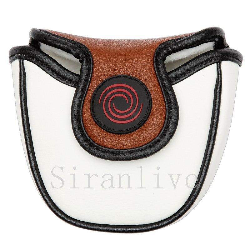 Бесплатная доставка siranlive Гольф Молоток Клюшка Чехол Магнитный Синтетическое закрытие волос чистый белый щит Шлем