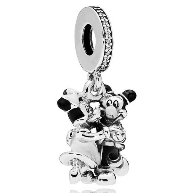 16 стиль Европейский серебристый Микки Минни кулон Подвески подходят оригинальный DIY Pandora браслет и браслет для женщин ювелирные изделия