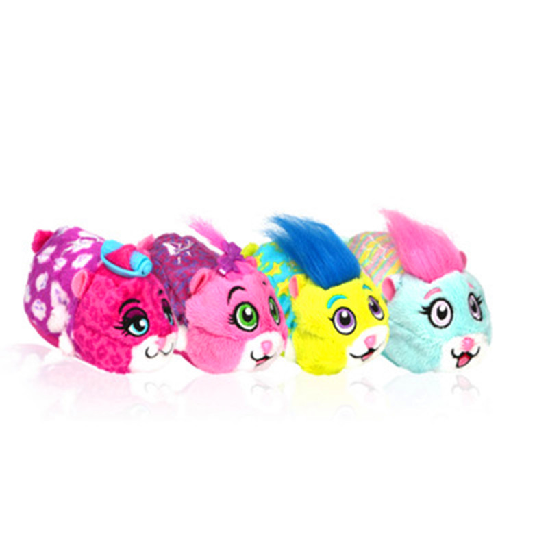 Cartoon The Zhu Zhus Pajama Party Children Electronic Pet Little Hamster Toys Action Figure Model Toy Gift G2150