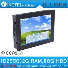 12 »Embedded PC Touchscreen PC Пять провод Gtouch Сенсорный Пк с помощью высокой температуры, ультра-тонкая панель с 2 Г RAM 80 Г HDD