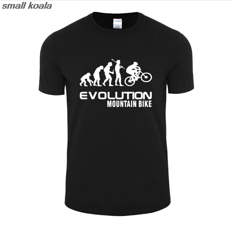 a2bc16600 summer Evolution Of Mountain Bike T Shirt Men Funny Fashion Hip Hop Loose  large code T Shirts Men Short Sleeve O Neck Cotton-in T-Shirts from Men s  Clothing ...