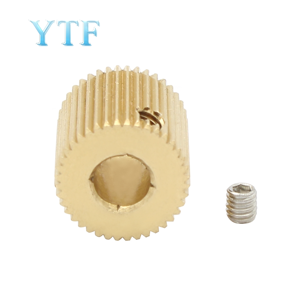 3D Printer Parts 40 Teeth MK7 / MK 8 Brass Planetary Reducer Extruder Feed Wheel / Extrusion Wheel