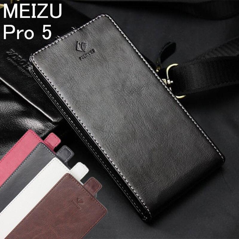 988a5a692 Clássico Luxo Avançado Top Leather Flip Up and Down capa de Couro para Pro  5 Meizu MEIZU Pro5 Caso Tampa Do Telefone Com suporte de Cartão Slot