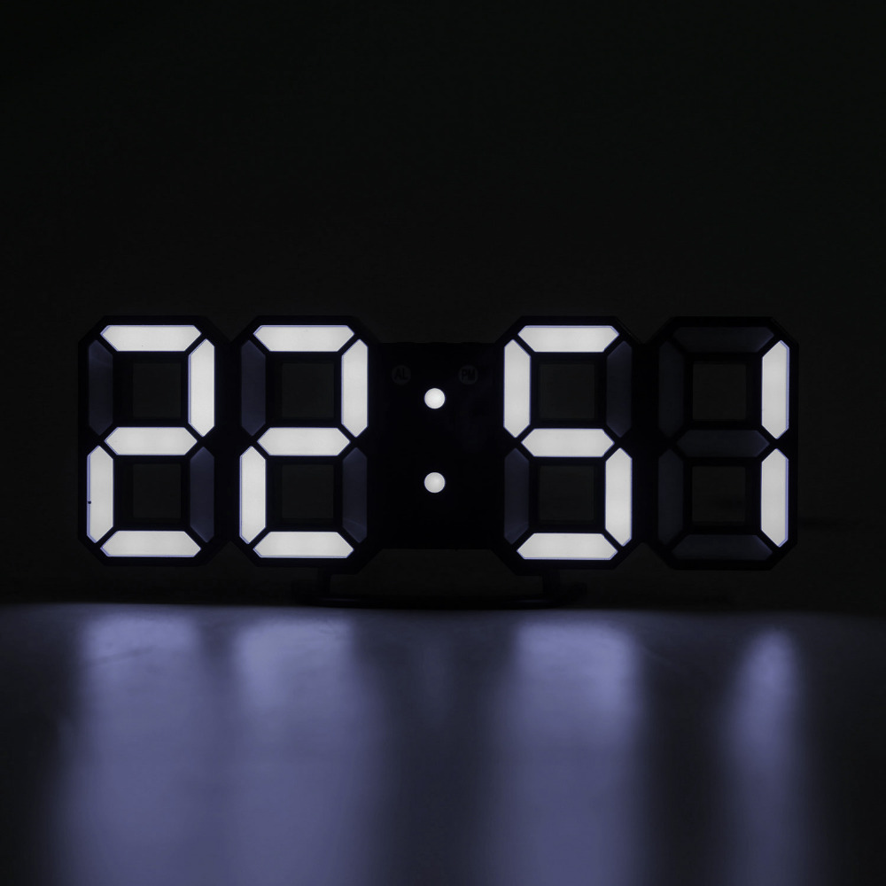 Electronic Wall Clock With USB Cable LED Digital Clock Home Decor