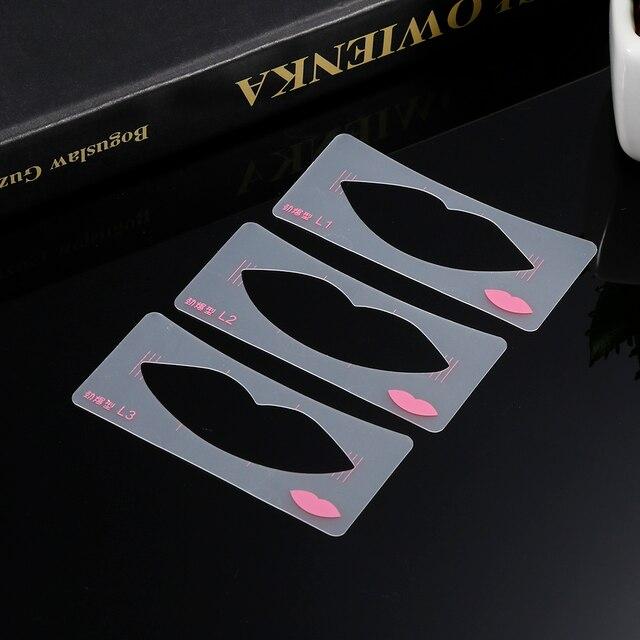 New 3pcs/set Lip Stencil Template Card Grinding EVA Lip Mouth DIY Stencil Template Card Cosmetic Makeup Tools 5