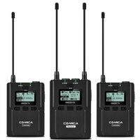 CoMica CVM WM200A 96 каналов UHF беспроводной микрофон 2 передатчика 1 приемник микрофон для смартфона DSLR камеры несколько устройств