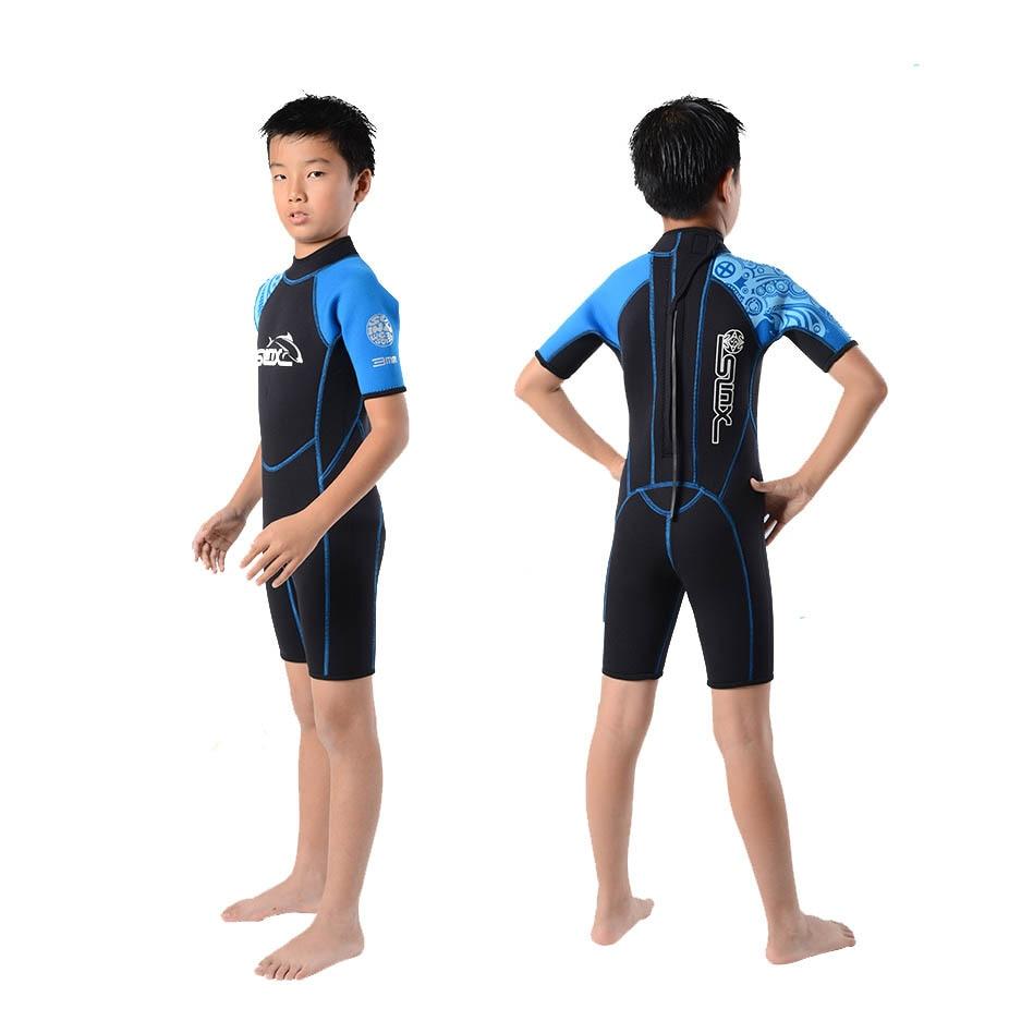 2mm Neopren Shorty Neoprenanzug für Jungen und Mädchen Rash Guard