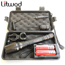 Litwod Z10V5 Ships from Russian LED Flashlight Torch CREE XML L2 T6 Zoomable waterproof Tactical Flashlight Run time 15 hours