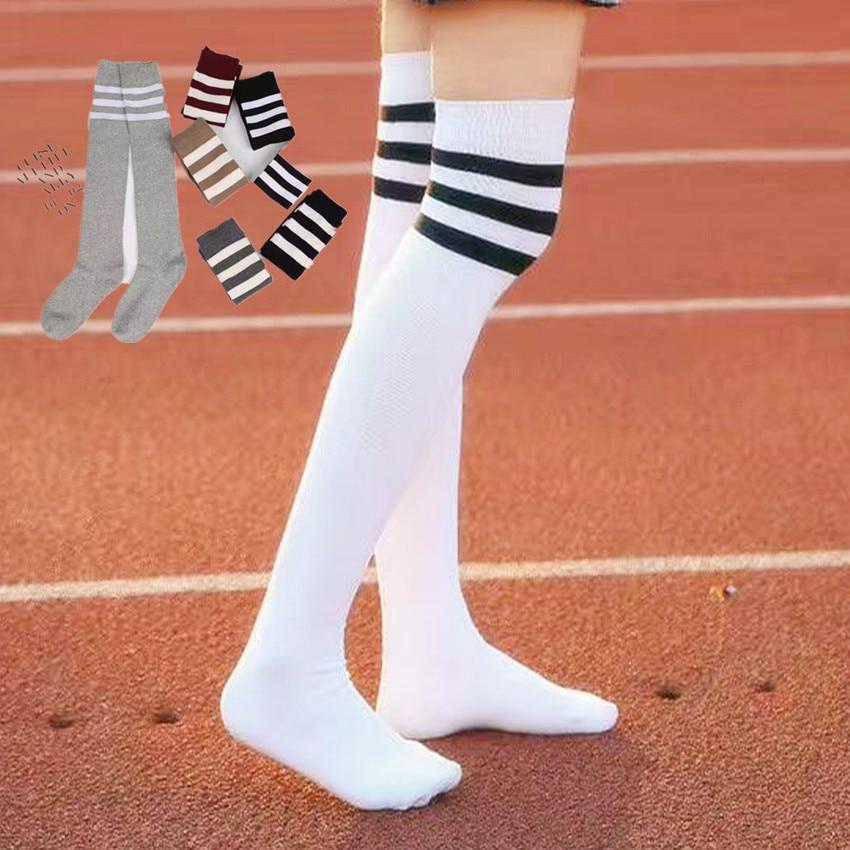 Knee socks thin section Japanese students half a thigh tube Ms. Long tube cotton stockings three bars