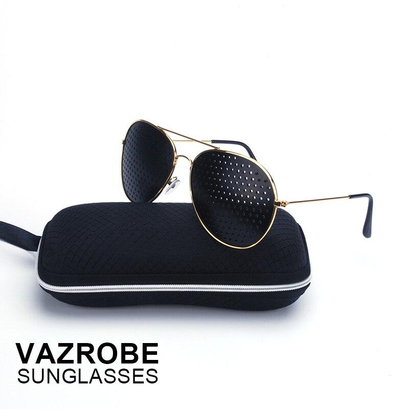 Vazrobe Pinhole Sunglasses Men Women Vision Care Multifunctional Corrective Glasses Anti-myopia Eye Exercise Anti-fatigue