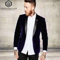 LN007 Groomsmen chal negro solapa del novio esmoquin terciopelo púrpura chaqueta hombres trajes de boda mejor hombre (chaqueta + Pantalones)