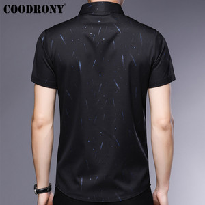 Image 3 - COODRONY Short Sleeve Men Shirt 2019 Summer Cool Shirt Men Business Casual Shirts Male Fashion Star Pattern Chemise Homme S96034