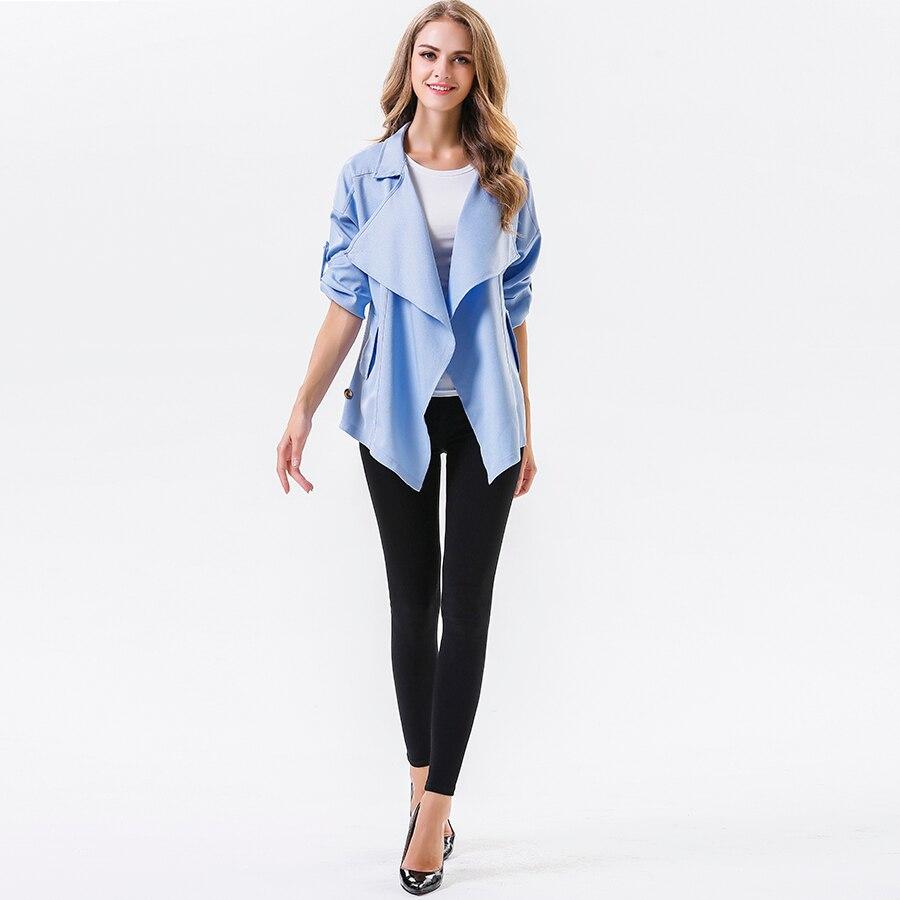 Manteau d'hiver asymétrique Trench femmes Beige Oversize Casacos Cardigan coupe-vent bleu grande taille femmes vêtements gothique manteau H0027F
