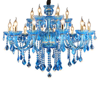 W stylu Vintage kryształowy żyrandol niebieski światła oprawa duża turcji styl luksusowe z kutego żelaza Lustre wiszące kryształowy żyrandol światła tanie i dobre opinie Żyrandole Szkło Żarówki led Współczesna 7days Dotykowy włącznik wyłącznik iron Dół Szkło bezbarwne Semiflush zamontować