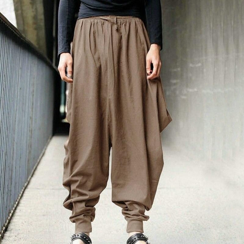 Pantalones Harem de algodón de moda para hombre b1e0da97ff9