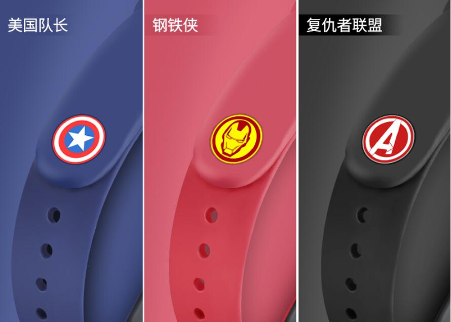 <font><b>avengers</b></font> marvel Miband4 accessories <font><b>mi</b></font> <font><b>band</b></font> <font><b>4</b></font> 3 2 <font><b>strap</b></font> replacement silicone wriststrap for xiaomi <font><b>mi</b></font> <font><b>4</b></font> 3 2 mi2 smart bracelet image