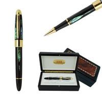Роскошная ручка высокого качества Duke серебро и золото роллербол Ручка лучший Деловой Подарок ручки с подарочной коробкой черные чернила Ша