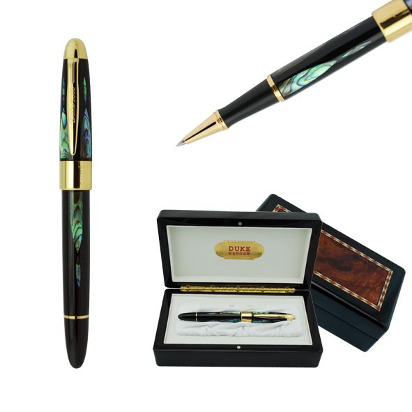 Luxury Pen High Quality Duke Silver and Gold Rollerball Pen The Best Business Gift Pens with An Gift Box Black Ink Ballpoint Pen цены