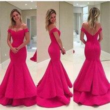 Rot Schöne Abendkleider V-ausschnitt Satin Nixe-abschlussball Kleider Kurzarm Backless Sweep Zug Günstige Lange Abendkleider