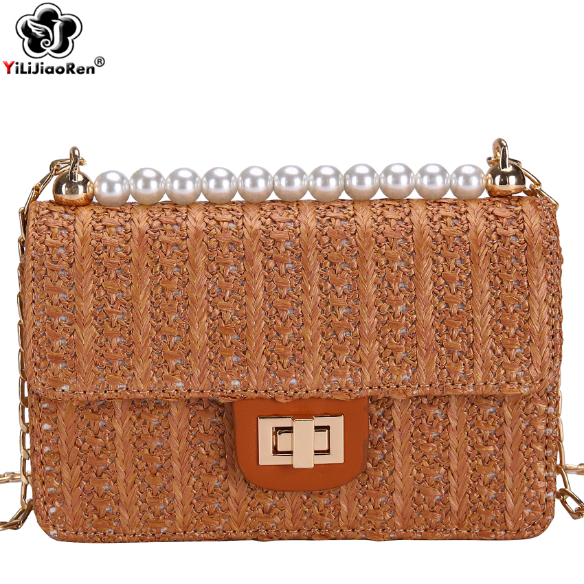 Fashion Summer Beach Bag Rattan Handmade Weave Straw Bags for Women Bohemian Small Crossbody Shoulder Bags Female Borsa Mare Sac