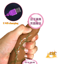 Soft Realistic Dildo Vibrator Heating Big Suction Cup Penis Phallus Adult Sex Toys for Women