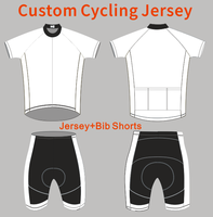 Cheap customized cycling jersey and bib short/racing bicycle t shirt/quick dry oem mountain bike clothing with full zipper