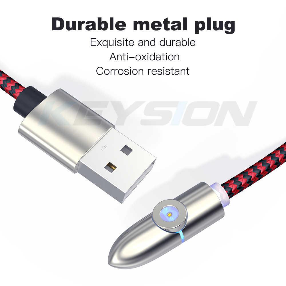 KEYSION USB مغناطيسي صغير كابل ل فون سامسونج نوع-c شحن تهمة المغناطيس مهايئ شاحن USB نوع C الهاتف المحمول الكابلات