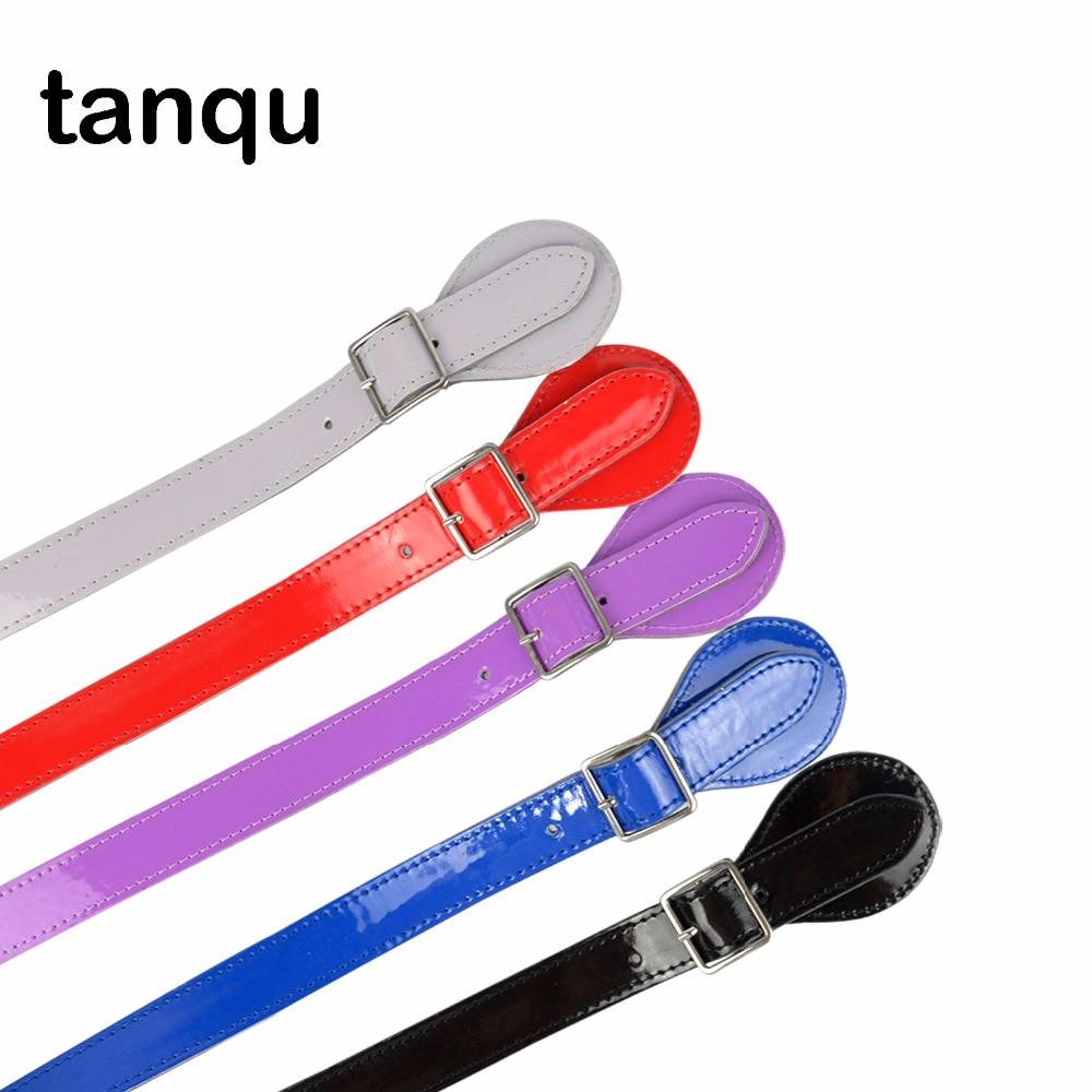 tanqu Short Long Lacquer Flat PU Leather Adjustable Drop End Buckle Belt Handle for Obag Chic Handbag все цены
